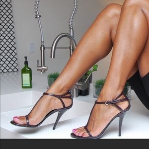 Gucci Swarovski Crystal GG Strappy heels